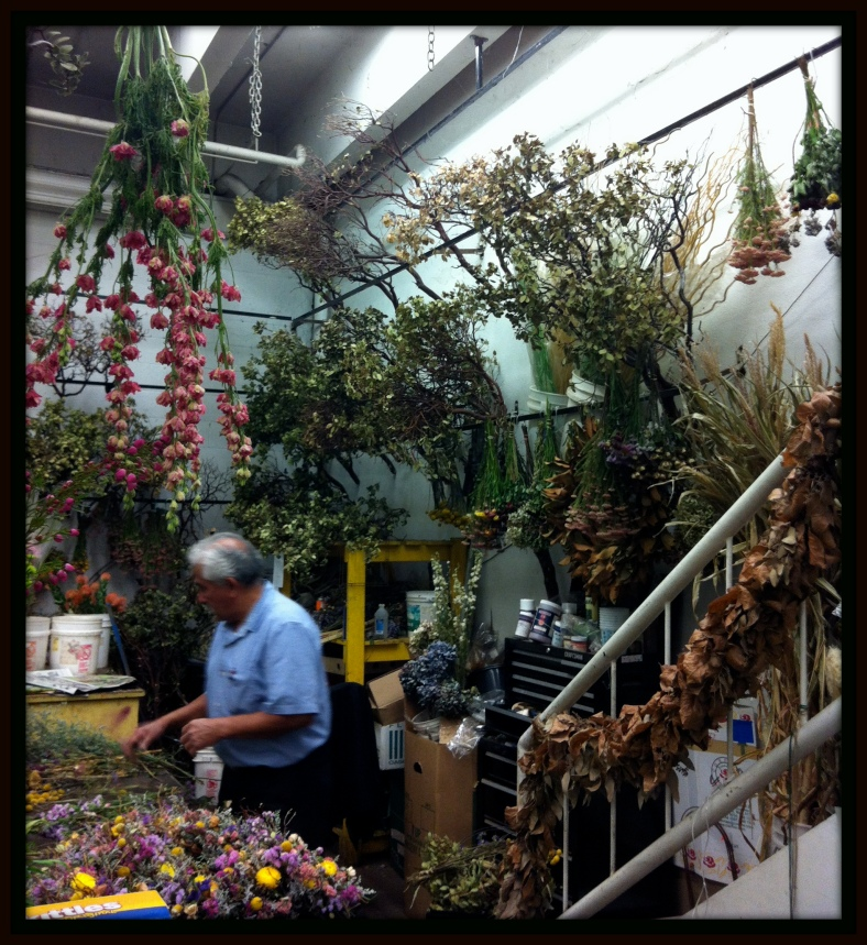 At the LA Flower Mart -- An Artist