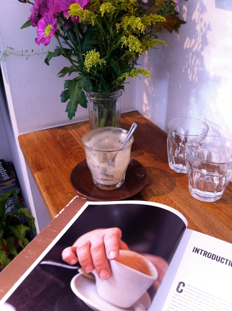 good coffee, good reads, good flowers @ Brown's of Brockley (if you go, say hi to Jeff and tell him his big sister sent you)